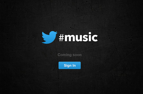 Twitter music splash