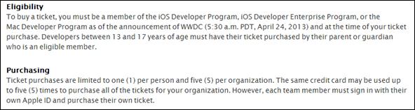 WWDC tickets