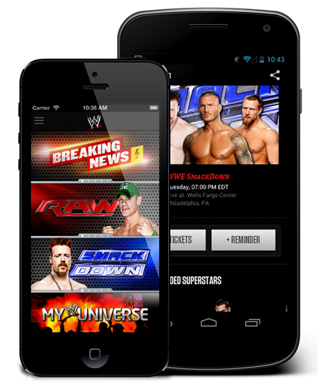 WWE iPhone Android