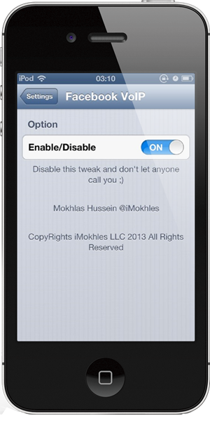 enable voip facebook iphone