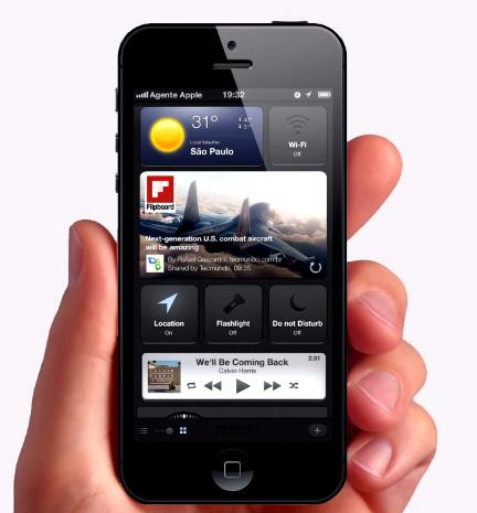 iOS 7 concept widgets