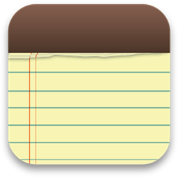 iOS Notes app logo