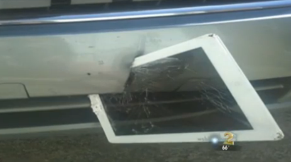 iPad in bumper