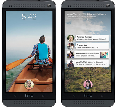 Facebook Home HTC One