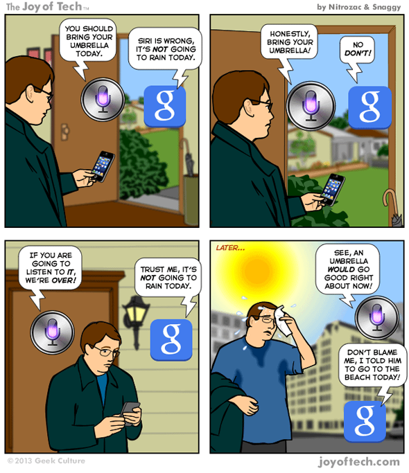 Google vs Siri JOT