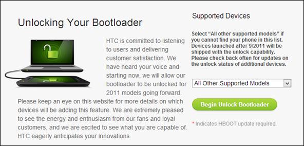 HTC One bootloader unlock