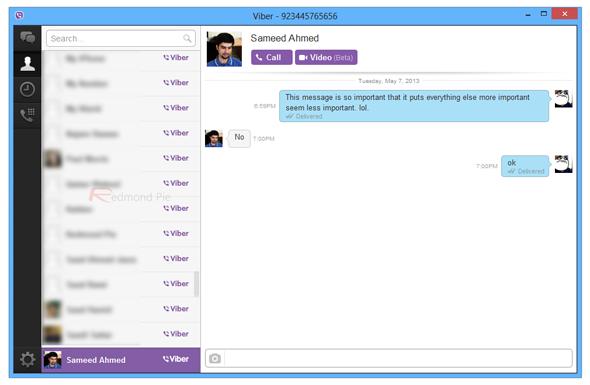 Viber desktop 2