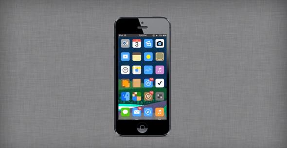 iFlat iOS 7 concept