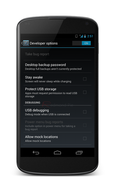 Enable Developer Options In Android 4 2 On Nexus 4 And Galaxy Nexus