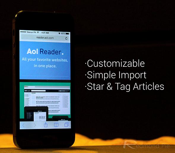 AOL Reader iPhone web app
