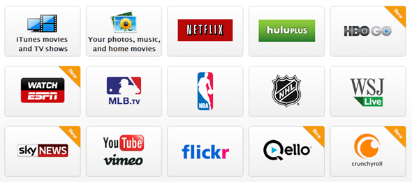Apple TV 5.3 apps list