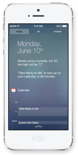 Notification Center iOS 7