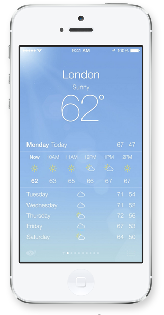 Weather iOS 7