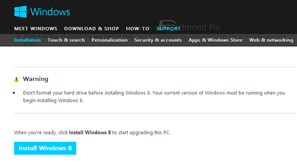 Download Windows 8 ISO (x86 / x64) File Directly From