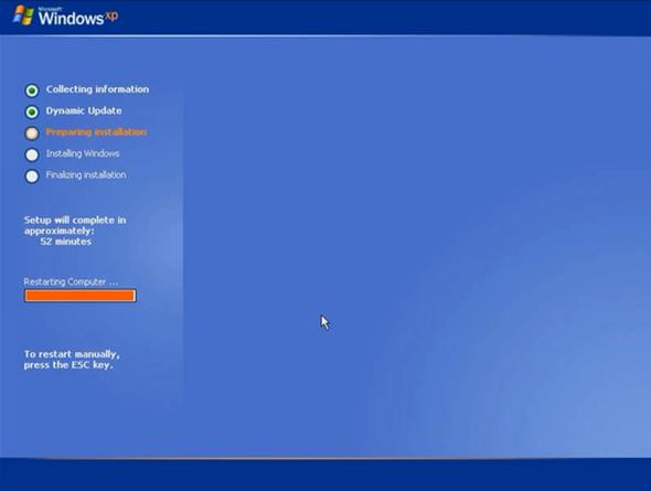 XP installation 1