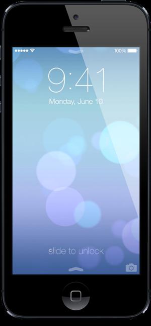 iOS 7 lock screen iPhone