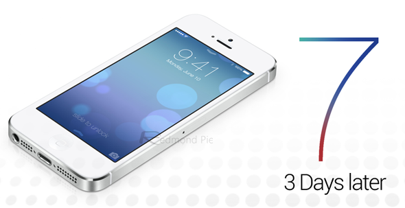 iOS 7 three days iPhone white