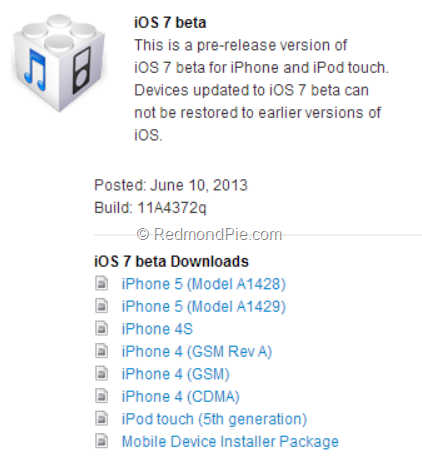 iOS7beta1