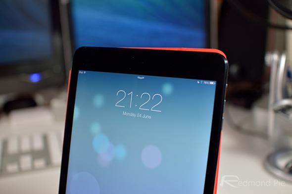 iPad mini header iOS 7 beta 2
