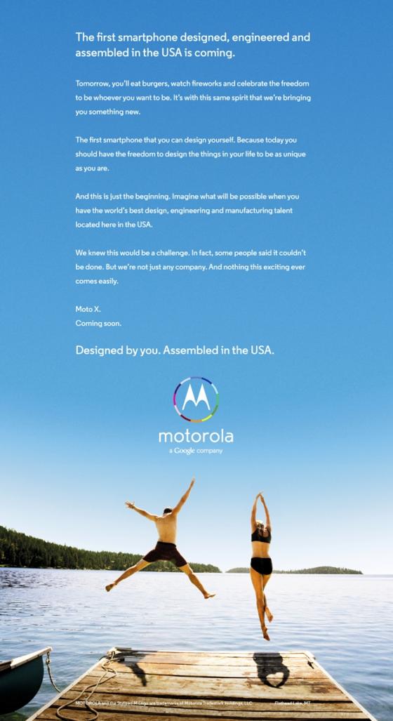 Moto X teaser ad