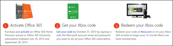 free Xbox LIVE Office 365