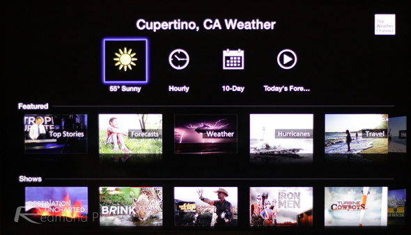 Apple TV weather channel 1