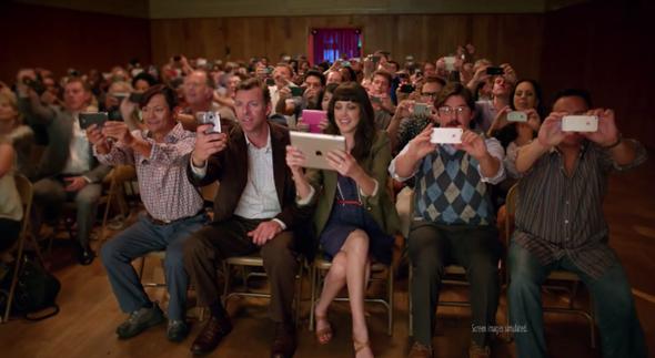 Lumia 1020 iPhone mock ad