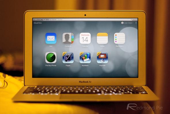 iCloud beta MacBook Air