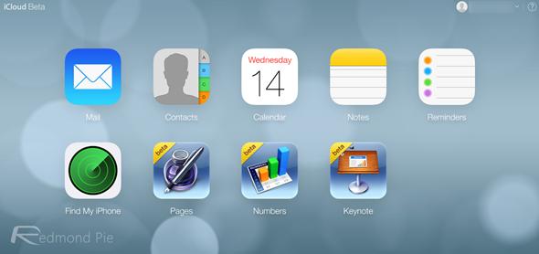 iCloud beta iOS 7 design 1