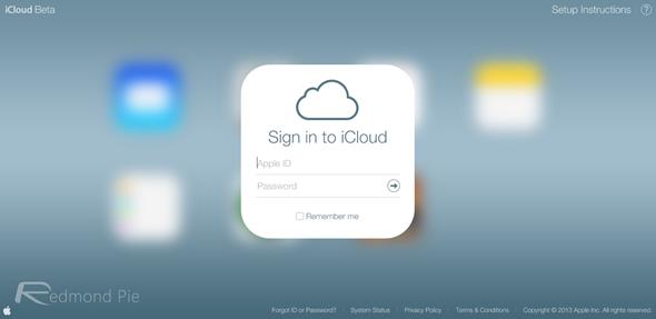 iCloud beta iOS 7 design 2