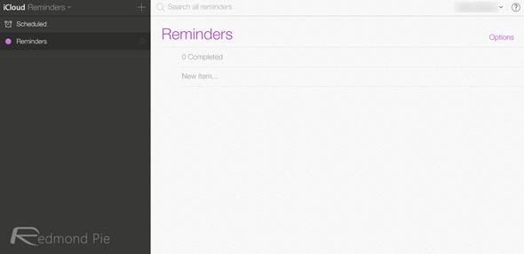 iCloud beta iOS 7 reminders