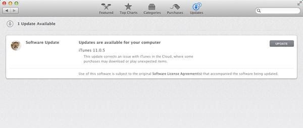 iTunes 11.0.5