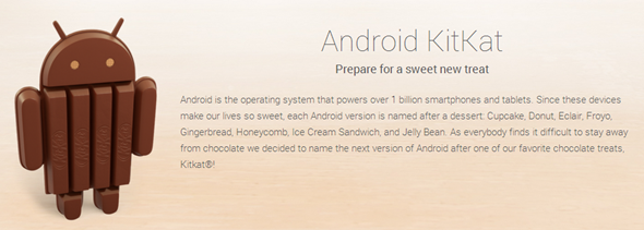 Android KitKat info