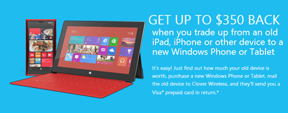 Microsoft trade in program iPad iphone Android