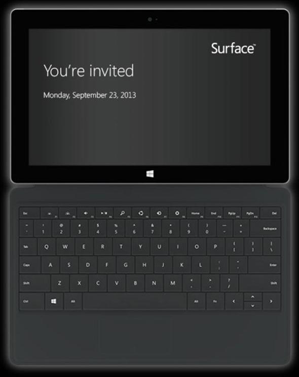 Surface event invite