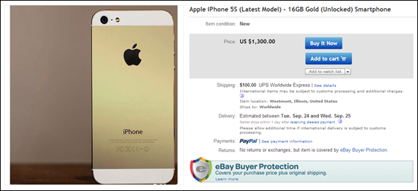 gold iPhone 5s 16gb ebay