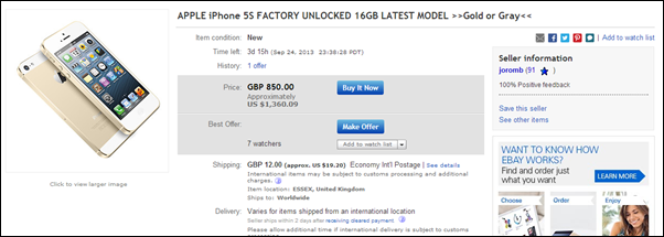 gold iPhone 5s ebay