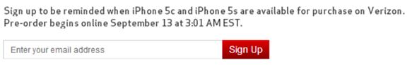iPhone 5c pre order verizon