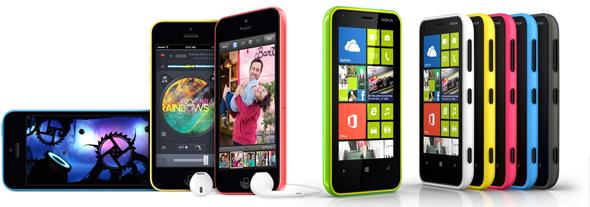 iPhone 5c vs Lumia