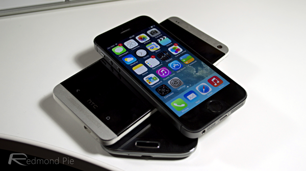 iPhone 5s HTC One GS4