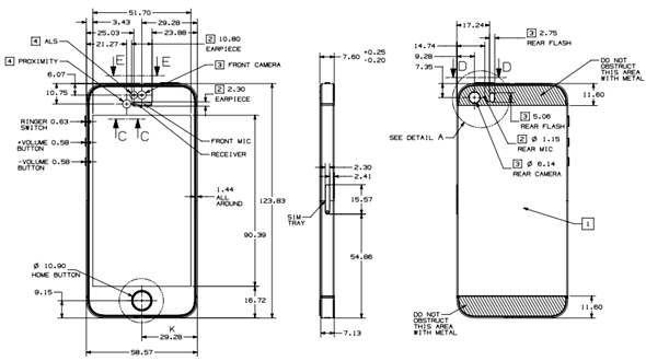 iPhone 5s schematic