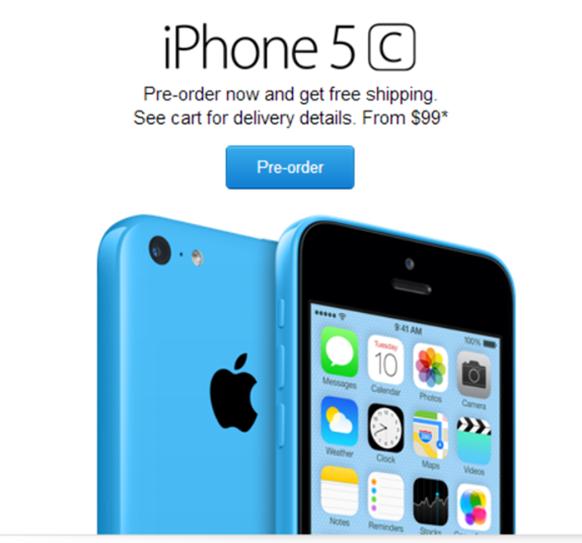 iPhone5c Pre-order