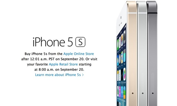 preorder iPhone 5s