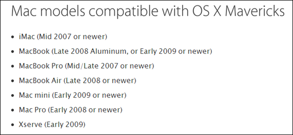 Mavericks Compatibility
