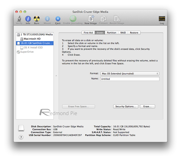 Step 1 Disk Utility