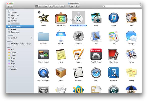 Step 2 Mavericks Installer downloaded from Mac App Store