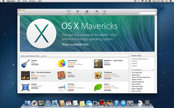 mac os x mavericks free download iso