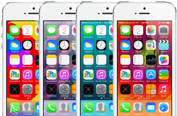 iOS 7 wallpapers