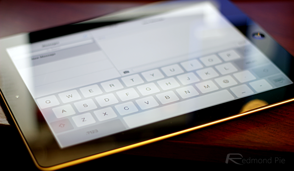 iPad keyboard iOS 7