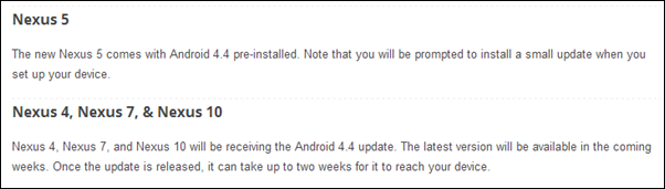 Android KitKat compatibility
